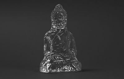 Buddha  - Clear cut glass ornament - Perfect Gift - NEW  (2)