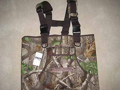 Men Titanium Neoprene Fishing/Hunting Chest Wader Hardwoods Green Camo Lug Sz 13