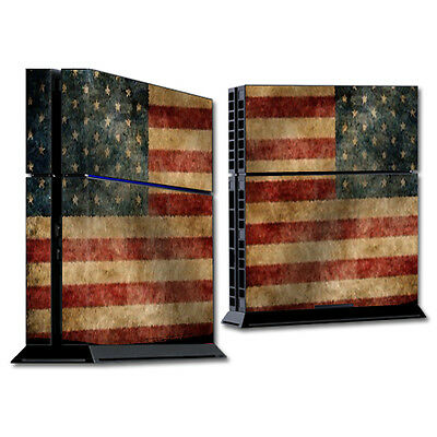 Skin Decal Wrap for Sony PlayStation 4 PS4 Console sticker Vintage Flag