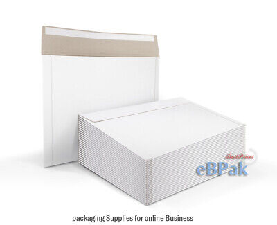50 x A3 Size RIGID Mailer 330x450mm - 700GSM White Hard Envelope for Photo Film