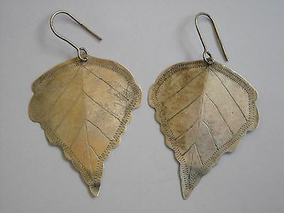 Antique SILVER earrings 16 century