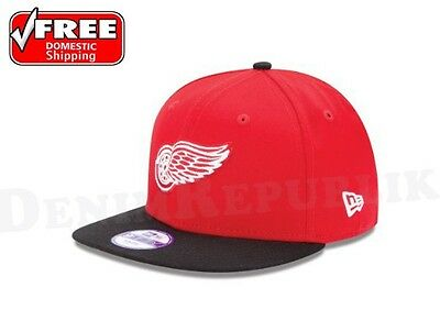 5eb5a5cba48 New Era 9Fifty DETROIT RED WINGS 2 Tone Snapback Hat NHL 950 Two Tone Cap