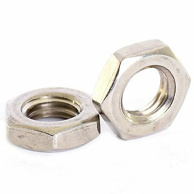 M10 X 1.0Mm A2 Stainless Fine Pitch Hexagon Half Lock Nuts Hex Thin Nut 5 Pack