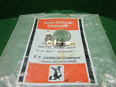 1 Tip Jack Test Point White Gold Plated EF Johnson 105-0201-200 NOS High Quality