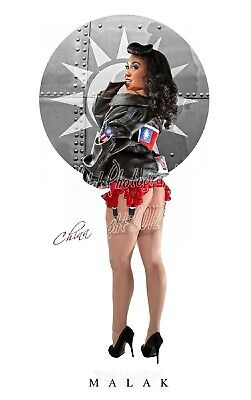 "WWII ""China"" Michael Malak Cheesecake Pin Up Girl Giclee 11X17"