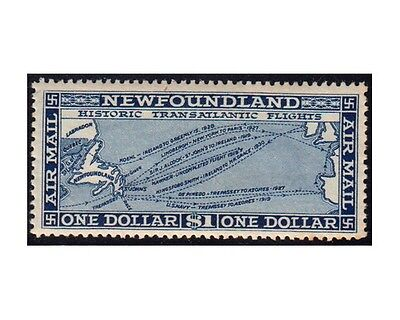 NEWFOUNDLAND Airmail stamps 1931 Transatlantic Flights 1Dollar SG.194 MNH (F152)