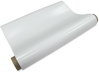 "Magnetic sheets  30 mil x 30""WIDEx 50' GLOSS White VINYL- Car sign magnet rolls"