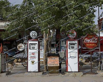 Gas Pumps-Coca Cola-Store Front-Route 66-8x10 photo