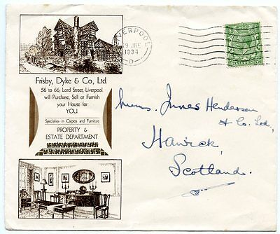 """1934 Illustrated trade advertising envelope for """"Frisby, Dyke & Co Ltd"""""""