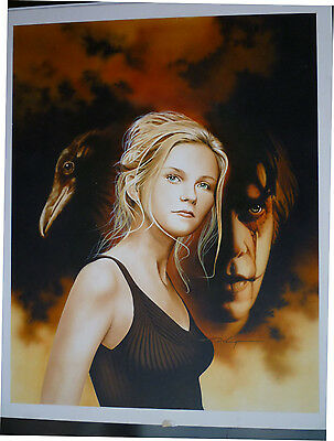 Kirstin Dunst + The Crow - David Voigt Painted Cover Art For Femme Fatale