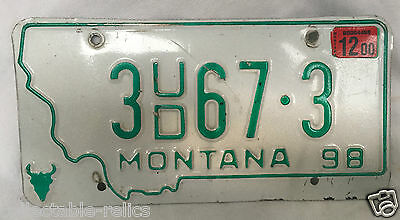 montana special number plate license plate nummernschild. Black Bedroom Furniture Sets. Home Design Ideas