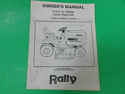 rally lawn mower parts manual