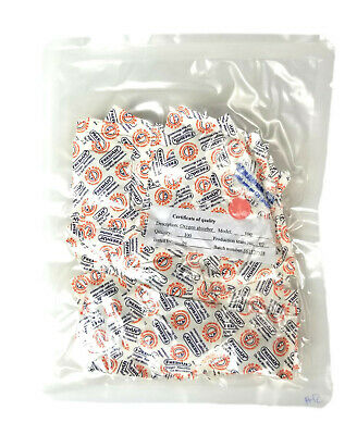 1 Case - 100CC OXYGEN ABSORBERS- 2500 Units Use with Mylar Bags for Food Storage