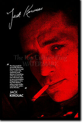 JACK KEROUAC SIGNED ART PRINT PHOTO POSTER AUTOGRAPH GIFT QUOTE