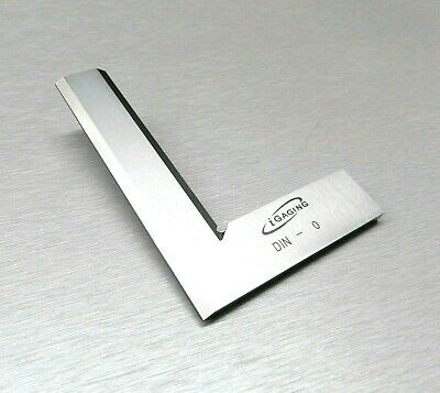 "SQUARE 90º RIGHT ANGLE MACHINIST SQUARE BEVELED STEEL 4"" -100mm Small HAND TOOL"