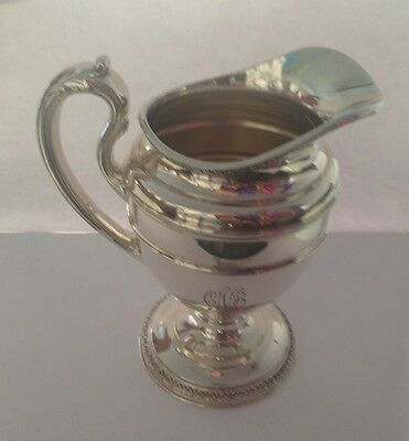 "Vintage Reed & Barton 4050 STERLING Dipped 5.75"" Pewter/Jug Small Pitcher 370gr"