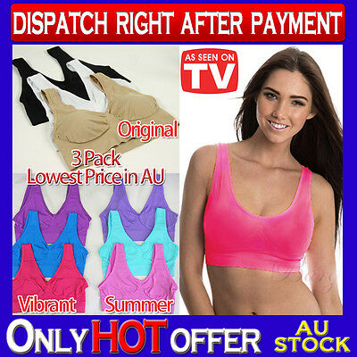 Set of 3 Bra Leisure Shapewear Seamless S M L XL XXL 3XL 4XL ahh so comfy aah