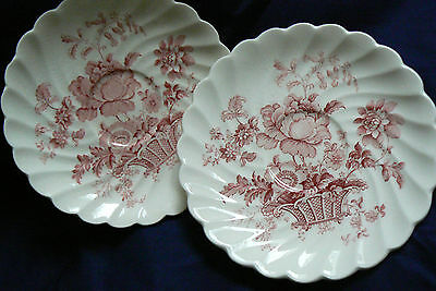 Charlotte Royal Crownford Staffordshire England Ironstone Lot of 2 Saucers