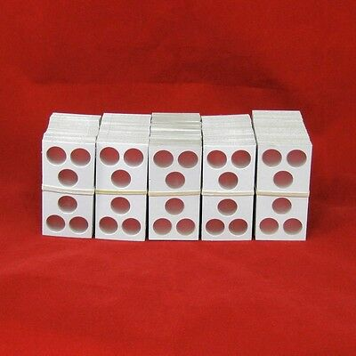 500 Cardboard 2x2 Coin Holder Mylar Flips with 3-Hole Openings for Cent/Dime