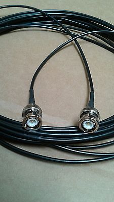 US MADE   BNC Male TO BNC Male  RG-174  coax  cable  30 ft  50 ohm