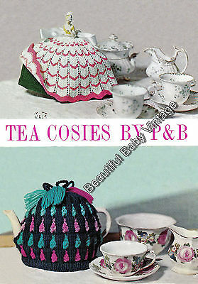 Vintage Tea Cosy KNITTING PATTERN 1950s 2 High Tea Cosies Patons Kitchen COPY