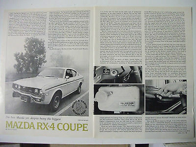 Mazda Rx-4 Coupe Full Usa Magazine Road Test