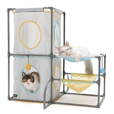 Brand New Sport Pet Cats Fun Playground Play Center Tower Cat Kitten Toy 0075