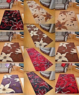 Modern Lily Print Extra Long Runner Large Mats Floor Carpet Rug Cheap Free Post