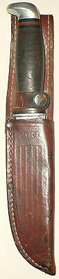 VINTAGE MILITARY 1965 - 1969 CASE XX 323-6 FIXED BLADE KNIFE WITH LEATHER SHEATH