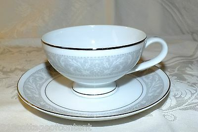IMPERIAL CHINA WHITNEY CUP & SAUCER SET  (6) available  all EXC gray white