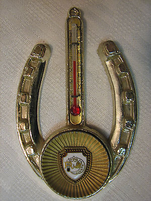 Daughters of Rebekah Enamel Medal Shield Horseshoe Wall Plaque Thermometer IOOF