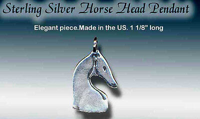 Sterling Silver Stylized Horse Head Pendant