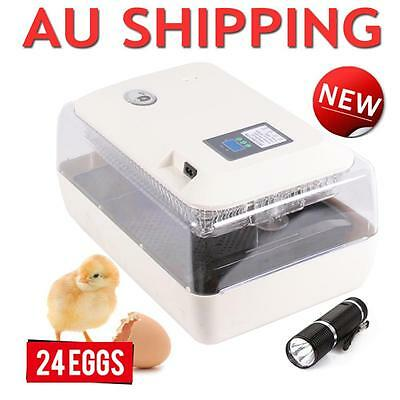 Digital 24 Eggs Incubator Automatic Turner Poultry Chicken Duck Egg