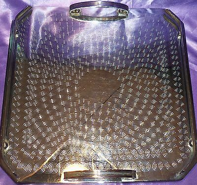 Vintage ~ Chrome / Stainless Steel Ranleigh Drink Bar Tray ~ Estate Collectable