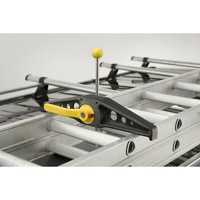 Rhino Roof Rack Ladder Clamps SafeClamps (Pair) Lockable RAS21 - NEW Mk 2 MODEL