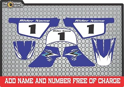 pw80 decals graphics your name and number yamaha pw 80 personal kit blue 2 163 37 00