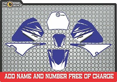 pw80 decals graphics your name and number yamaha pw 80 personal Full kit blue 2
