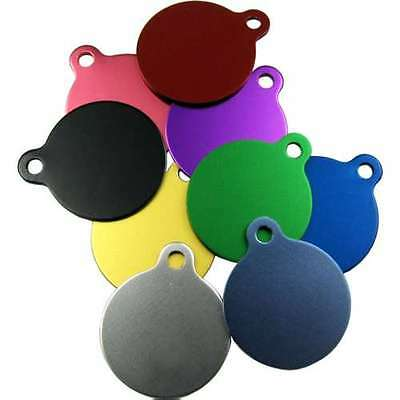 Pet ID Tags Engraved Dog/Cat Disc,19mm & 25mm High Quality Round Shape with Tab