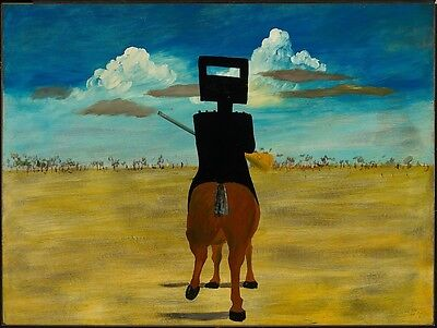 Sidney Nolan Ned Kelly Home Decor Canvas Print A4 Size (210 x 297mm)