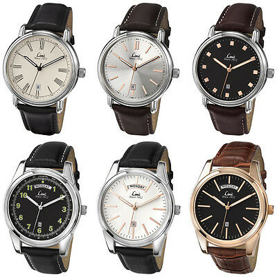 Limit Classic Gents Watch - Date - Stainless Steel Case - Leather Wristband