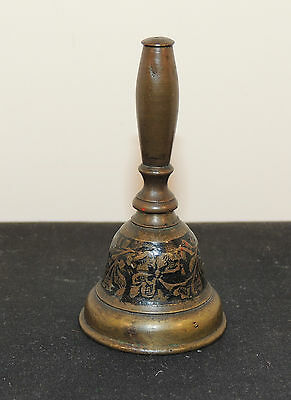 Enameled Brass Bell over 2 inches tall (5898)