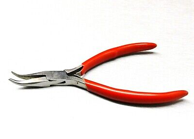 """Bent Nose Pliers 45º Bent Jaws Plier Jewelry Making Hobby Craft Wire Work 4-1/2"""""""