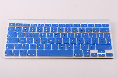 Blue UK/EU Silicone keyboard Cover Protector for Apple iMac, Macbook Pro
