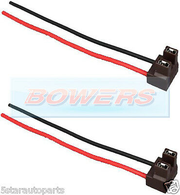 Pair Of X2 H7 2 Pin Headlight Replacement/repair Bulb Holder/connector Plug Wire