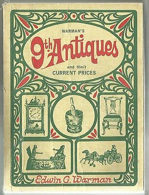 Warman's 9Th Antique Price Guide Copyright 1968 By Edwin G. Warman