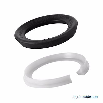 Geberit 240.139.00.1 Flush Pipe Bend Seal Washer & Clip For 109.720.00.1 Cistern
