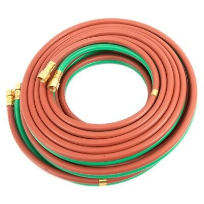 "Twin Welding Hose Grade T 25' X 1/4"" Oxygen Propane 25' 1/4"" BB Connection"