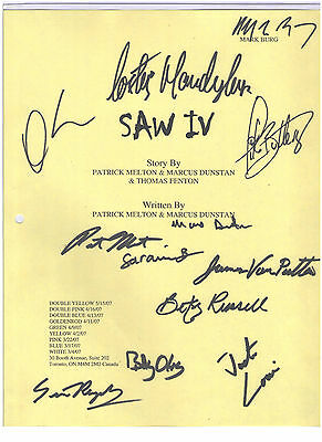 Saw Iv Signed Script By 12 Betsy Russell Costas Mandylor Simon Reynolds