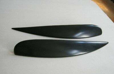 Vauxhall OPEL Corsa D eyebrows, genuine  ABS plastic NEW 06- headlights spoiler