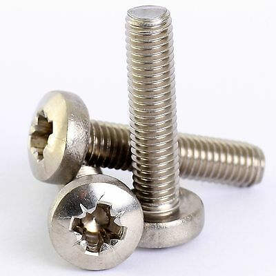 M4 M5 M6 A2 Stainless Pozi Pan Head Machine Screws Posi Pozidrive Screw Din 7985